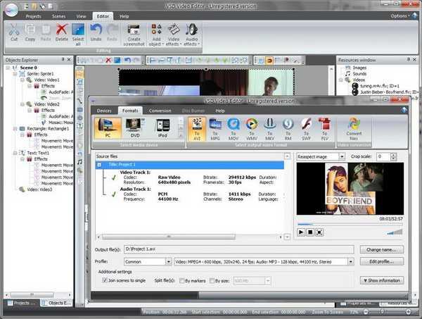 Hasil Pembuatan Video Menggunakan VSDC Free Video Editor