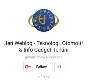 Google +1 Berita Teknologi Hari Ini | Jeripurba.com