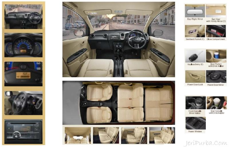 Gambar Bagian dalam Interior Honda Mobilio 2014
