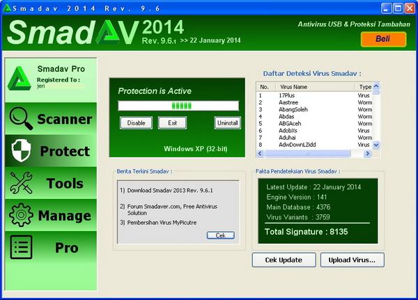 Menu Protect Pada Smadav 2014 Versi 9.6.1