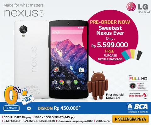 Pemesanan dan Pre Order LG Nexus 5 di Indonesia