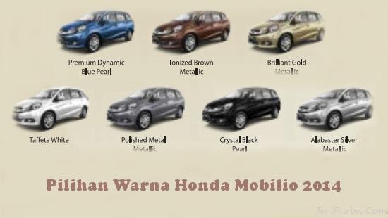 Tipe - Pilihan Warna Dan Harga Honda Mobilio 2015 | Jeri Weblog