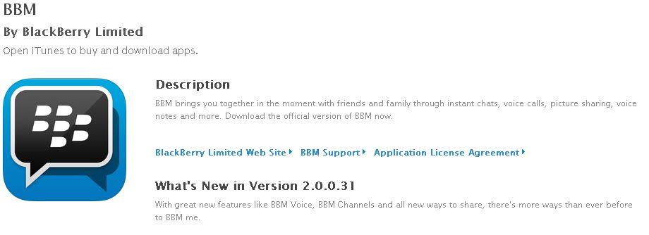 Download BBM 2 Untuk iPhone