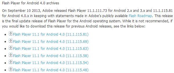 Download file .apk Adobe Flash Player Untuk Android