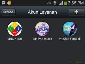 Fitur Berita, Info Musik dan SepakBola Pada WeChat