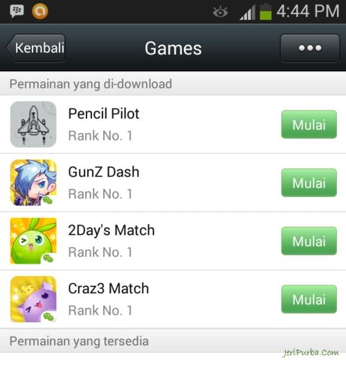 Games Yang Bisa Dimainkan Di WeChat