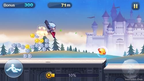 Tombol Melompat Pada Game GunZ Dash