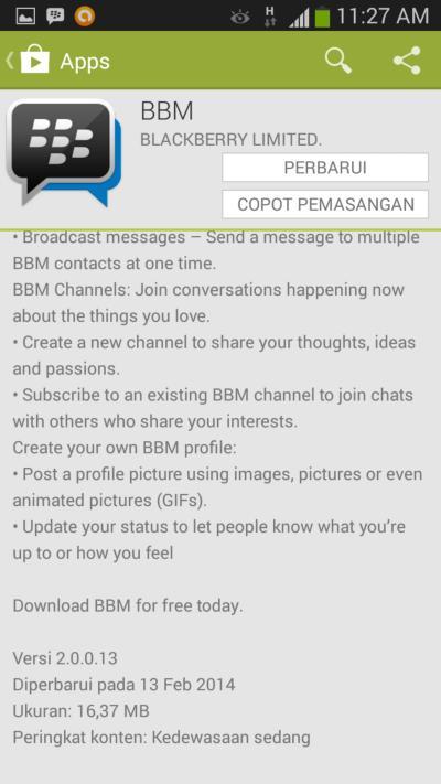 Update BBM Versi 2.0 untuk Android