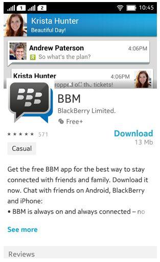 Download BBM Untuk Nokia Asha