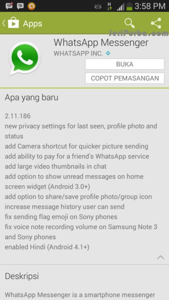 Fitur WhatsApp For Android 2.11.186