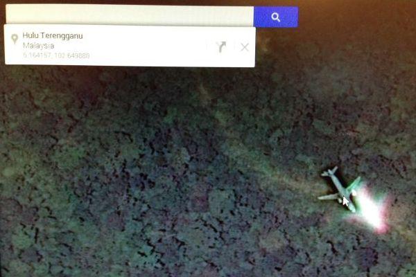 Gambar Lokasi Pesawat Malaysia Airlines MH370 Dari Google Maps
