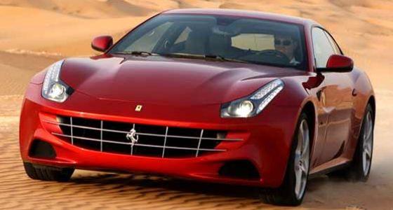 Gambar Mobil Ferrari FF Merah