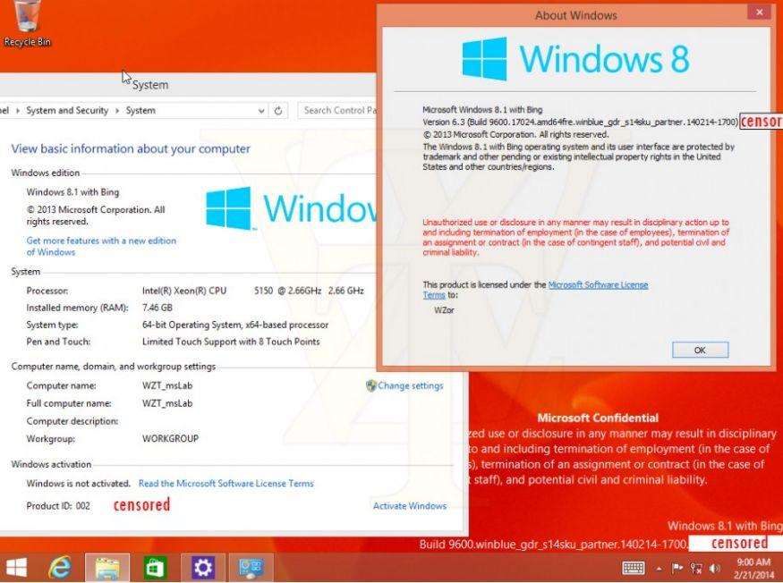 Gambar Tampilan Windows 8.1 With Bing