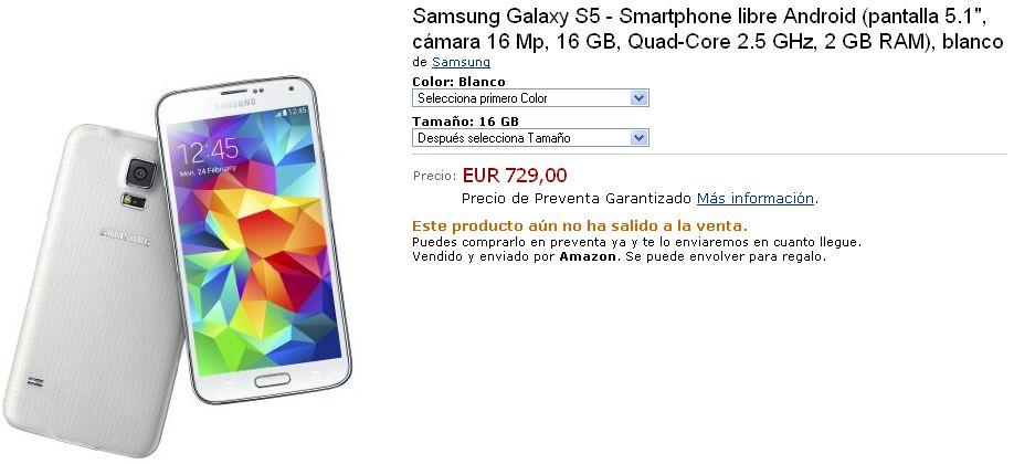 Harga Samsung Galaxy S5 Di Spanyol