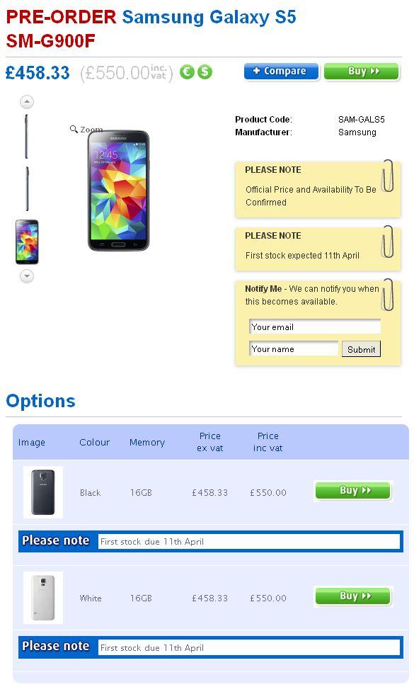 Harga Samsung Galaxy S5 Di Inggris Dan Spanyol Dibanderol Sangat Mahal