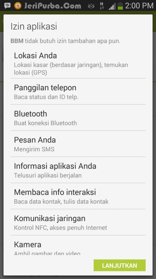 Konfirmasi Update BBM For Android versi 2.0.0.19