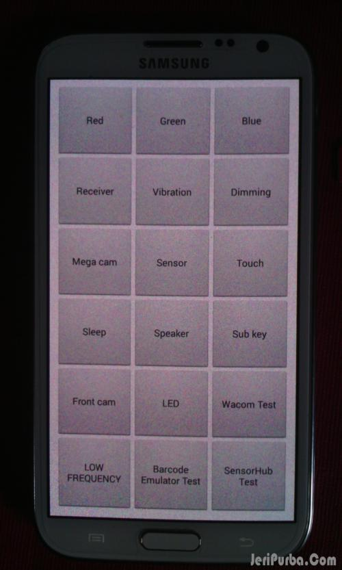 Menu LCD Test Samsung Galaxy S4 Original