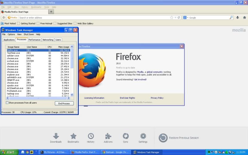 Pemakaian RAM Pada Mozilla Firefox 28