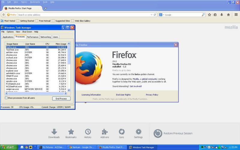 Pemakaian RAM Pada Mozilla Firefox 29