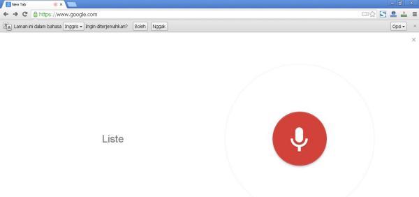 Pengucapan pada pencarian suara di Google Chrome