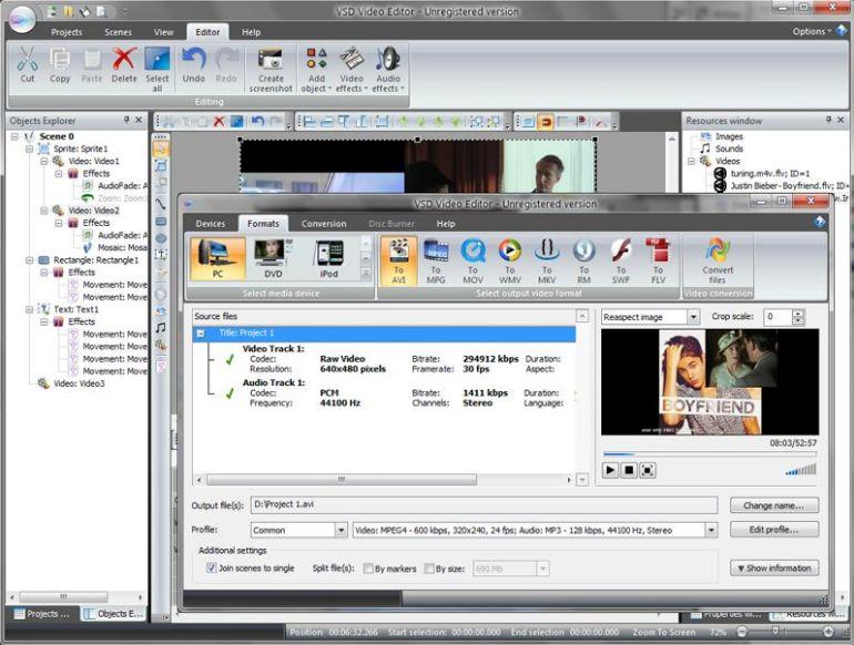 best free video editor - vsdc