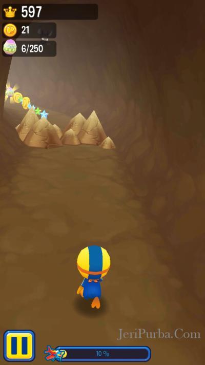 Gua dalam game Pororo Penguin Run Android