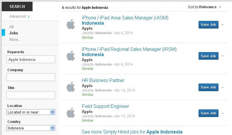 Lowongan Kerja Apple Indonesia
