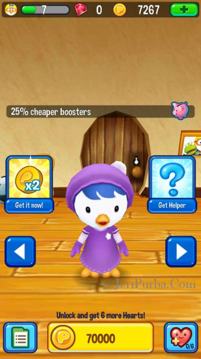 Petty dalam Game Pororo Penguin Run