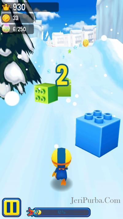 Rintangan Kubus dalam Game Pororo di Android