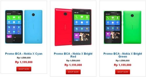 Diskon Harga Dan Pilihan Warna Nokia X
