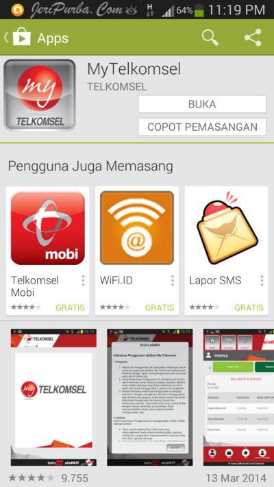 Aplikasi MyTelkomsel Android