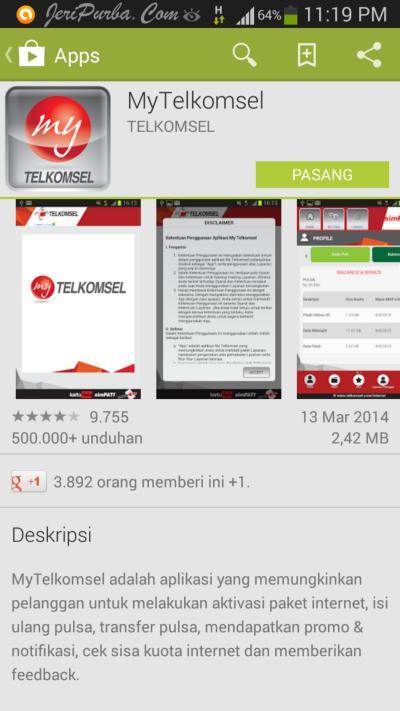 Download Aplikasi My Telkomsel di my.telkomsel.com atau kunjungi ...