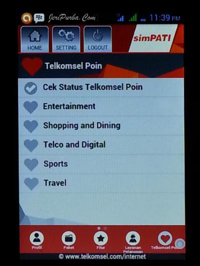 Cek Status Telkomsel Poin Dari My Telkomsel