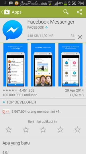 Download Facebook Messenger Untuk Android