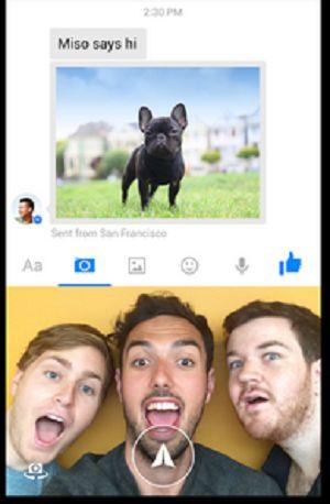 Fitur Foto Selfie Di Aplikasi Facebook Messenger Untuk Android