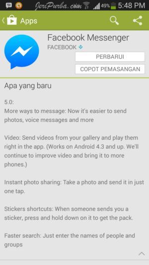 Fitur Foto Selfie Facebook Messenger For Android