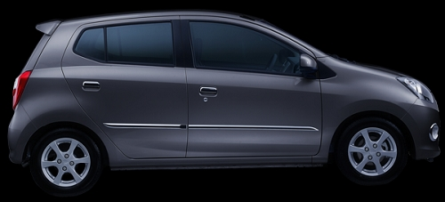 Gambar Mobil Daihatsu Ayla Warna Abu-abu Metalik (Dark Grey Metallic)