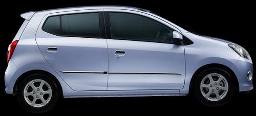Gambar Mobil Daihatsu Ayla Warna Biru (Light Blue Solid)
