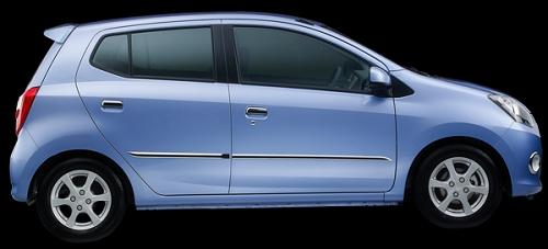 Gambar Mobil Daihatsu Ayla Warna Biru Metallik (Light Blue Metallic)