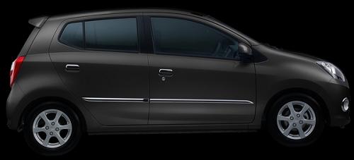 Gambar Mobil Daihatsu Ayla Warna Hitam (Ultra Black Solid)