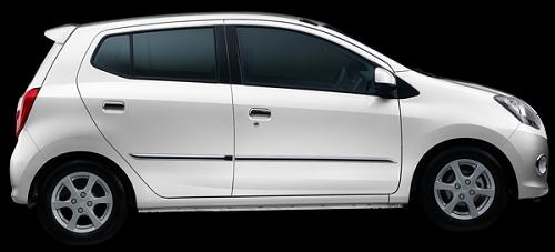 Gambar Mobil Daihatsu Ayla Warna Putih (Icy White Solid)