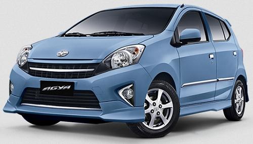 Gambar Mobil Toyota Agya Warna Biru (Light Blue)