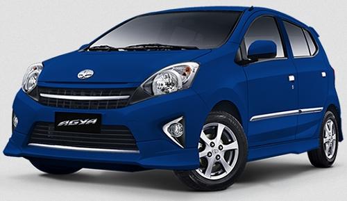 Gambar Mobil Toyota Agya Warna Biru Metalik(Blue Metallic)