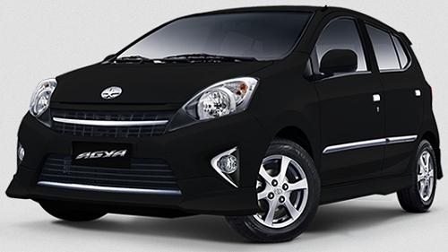 Gambar Mobil Toyota Agya Warna Hitam (Black)