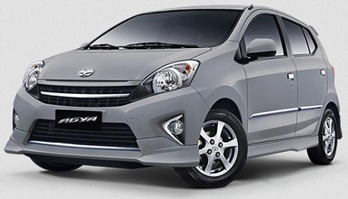 Gambar Mobil Toyota Agya Warna Perak (Silver Metallic)