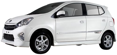 Gambar Mobil Toyota Agya Warna Putih (White) .