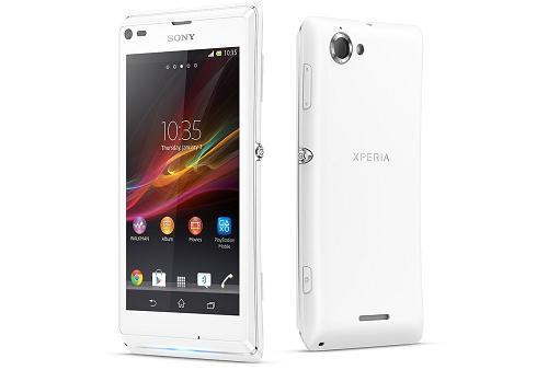 Gambar Sony Xperia L Warna Putih