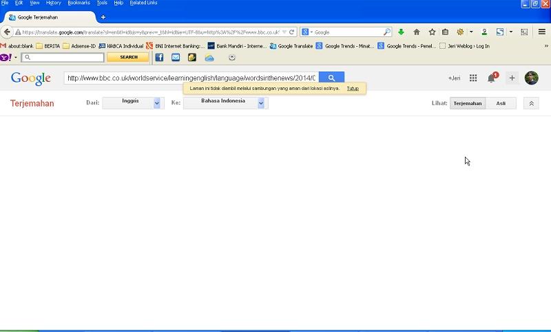 Google Translate Tidak Dapat Menerjemahkan Halaman Web Yang Tidak Menggunakan Enkripsi https di Browser Firefox