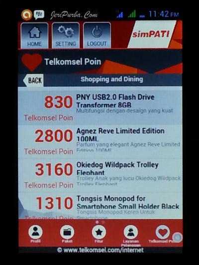 Hadiah, Produk atau Reward Dari Telkomsel Dalam Aplikasi My Telkomsel