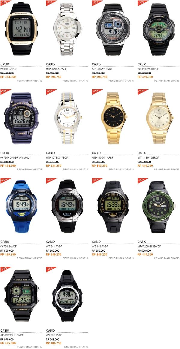 Harga Jam Tangan Casio - 300 Ribuan - 400 Ribuan